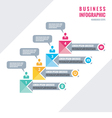 Infographic business concept - numbered steps vector image vector image