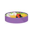 japanese food in purple lunchbox on white vector image vector image