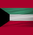 kuwait flag flag of kuwait blowig in the wind vector image