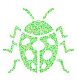 ladybird bug mosaic of dots vector image vector image