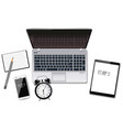 laptop tablet and smart phone realistic vector image vector image