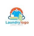 laundry logo designs vector image vector image