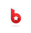 Letter B star logo icon design template elements vector image
