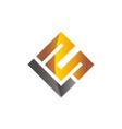 letter l m modern vector image