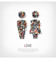 love people crowd vector image