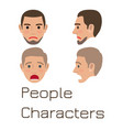 man emotive faces collection flat vector image vector image