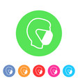 mask icons safety breathing protection covid19 vector image
