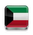 Metal icon of Kuwait