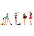 modern girls set vector image