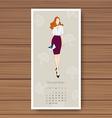november hand drawn fashion models calendar 2016 vector image vector image
