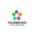 people connect logo community logo designs vector image