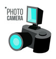 photo camera simple icon isolated flat vector image vector image