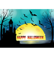 poster happy halloween vector image