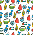 seamless pattern with equipment for kayaking-5 vector image