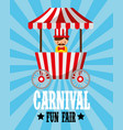 sellerman food booth retro carnival fun fair vector image vector image
