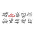 set 10 hand lettering inscription text to vector image