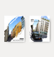 set blurred urban backgrounds collection of vector image