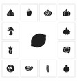 set of 13 editable vegetable icons includes vector image vector image