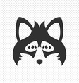 Simple Black Animal Portrait Fox vector image vector image