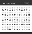 simple icons valentines day vector image