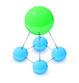 stable molecule icon isometric 3d style vector image