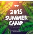 Summer Camp poster vector image vector image