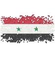Syrian grunge tile flag vector image vector image
