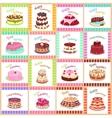 Tasty Celebratory Cakes Seamless Pattern vector image vector image
