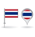 Thai pin icon and map pointer flag vector image vector image