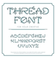Thread line font vector image vector image