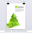 transparent green glass fir tree on white vector image vector image