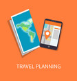 travel planning poster maps vector image