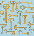 vintage key seamless background close the door vector image vector image