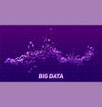 violet abstract binary wave 3d big data vector image vector image