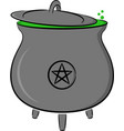 witchs pot vector image vector image