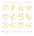 zodiac signs and constellations ritual astrology vector image