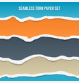 seamless torn paper set vector image