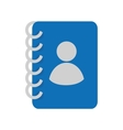 contacts book phones notebook icon graphic vector image