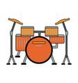 drum music instrument vector image