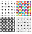 100 clock icons set variant vector image vector image