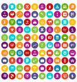 100 portfolio icons set color vector image vector image