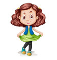 a brunette hair clour girl character vector image vector image