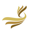 abstract gold wing logo template design eps 10