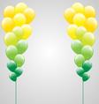Air balls on gray vector image