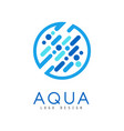 aqua logo design brand identity template ecology vector image vector image