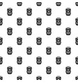 aztec wood idol pattern seamless vector image