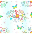 Background with flowers and butterflies vector | Price: 1 Credit (USD $1)