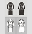 bathrobe vector image vector image