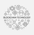 blockchain technology round in vector image vector image