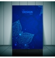 Blue business flayer template with indian ornament vector image vector image